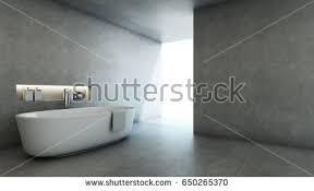 Concrete Floor Bathroom - bathroom interior gray walls shower cabin stock illustration
