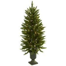 nearly 4 ft artificial tree with urn and clear