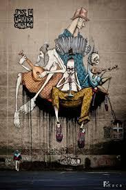 165 best street art images on pinterest urban art street art unique wall mural by etam cru chazme sepe lump