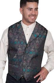 mens western vest leather western vests fringe vests