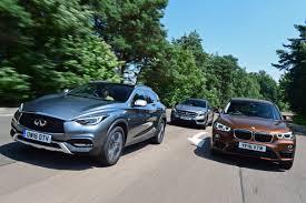 lexus vs infiniti vs bmw infiniti qx30 vs mercedes gla vs bmw x1 auto express