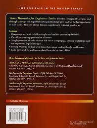 vector mechanics for engineers statics si units ferdinand p