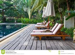 beautiful pool deck chairs in interior design for home with pool