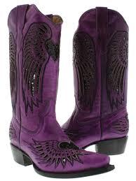 womens purple boots size 12 s purple leather cowboy boots sequins