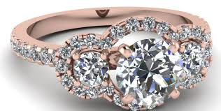 3 4ct pave halo blue engagement rings diamond engagement ring 3 4 ct tw heart shaped