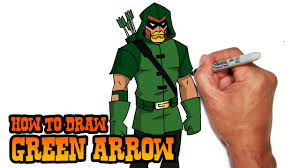 how to draw green arrow young justice video lesson youtube