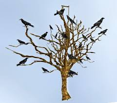 second marketplace dead trees with crows 1 prim by munro