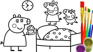 how to draw peppa pig cup cake coloring pages teach kid drawing