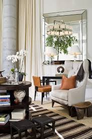 Tufted Arm Chair Design Ideas Decorations Mid Century Living Area With Striped Rug Also