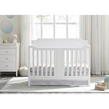 Convertible White Crib Dorel 2 In 1 Convertible Crib White
