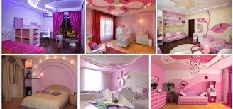 13 pink gypsum board design for kid u0027s room that looks
