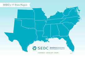State Map Of South Carolina by Sedc State Map Southern Economic Development Council