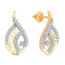 stylish gold earrings asmi diamond gold stylish earrings gold earrings homeshop18