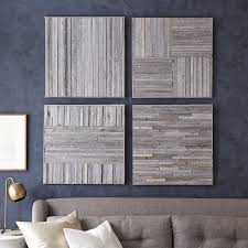 square wood wall decor stikwood wall west elm