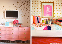 diy gold polka dot wall the homes i have made