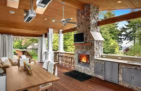 outdoor curtains sunbrella sheer craftsman porch with skylight