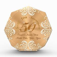 50 anniversary gift golden personalized happy 50th anniversary gifts zazzle