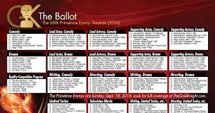 Setting The Table Danny Meyer Pdf 2016 Primetime Emmy Awards Printable Ballot The Gold Knight