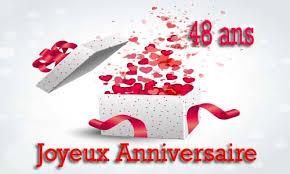 48 ans de mariage carte anniversaire amour 48 ans virtuelle gratuite à imprimer