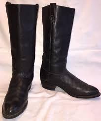 s boots in size 12 vintage mens size 12 d tony lama cowboy calvary black