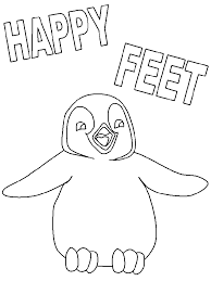 penguin coloring pages happy feet penguin skiing