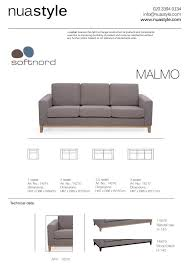 Couch Sizes by Malmo Sofa By Softnord Wooden Plinth Free Uk Delivery