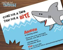 how to make pool party invitations shark birthday invitations printable shark invites shark