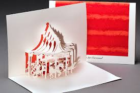 pier 39 carousel origami architecture pop up cards by live your