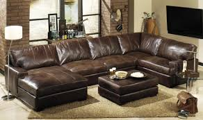Affordable Sleeper Sofa by Blue Leather Sleeper Sofa With Right Chaise And Double Armrest