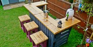 Patio Furniture Made Out Of Pallets by The Garden Bar Made From Reclaimed Timber And Discarded Pallets