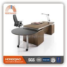 Stainless Steel Office Desk Dt 16 Modern New Design Veneer Cover Mdf Stainless Steel Office