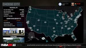 Map Of Nba Teams Nba 2k16 Will Allow You To Move A Team To Seattle U2014 Or Even Hawaii