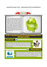 android developer tools information that you should know