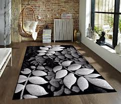 Area Rug 5x8 Gray And White Floral Area Rug Creative Rugs Decoration