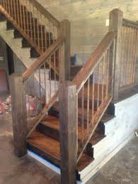 Stair Banisters Railings Custom Reclaimed Stair Railings By Stone Creek Cabinetry Llc
