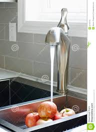modern kitchen sink and faucet royalty free stock photos image