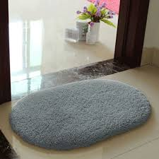 Oval Bath Rugs Gray Oval Bath Rug With Sparkling Ceramic Floor For Luxury