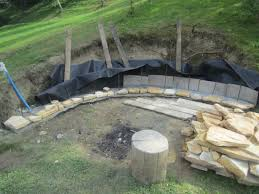 build a backyard fire pit they had a hill in their yard they couldn u0027t use what they