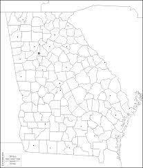 Blank Map Of The Usa by Georgia Free Map Free Blank Map Free Outline Map Free Base Map