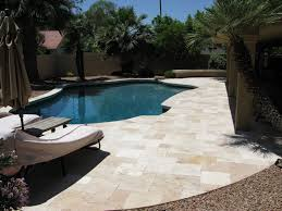 24x24 Patio Pavers by Travertine Pavers Tuscany Beige Tumbled