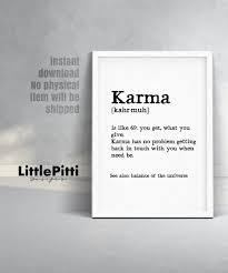 quotes about karma not existing karma print karma definition funny gift boyfriend birthday