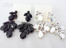 black dangle earrings 2017 new black white cz flower drop earrings jewelry