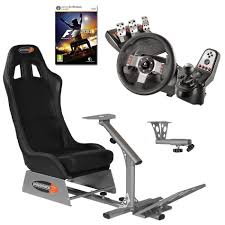 des jeux siege playseats evo seat slider gearshift holder volant logitech