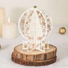 laser cut vintage 3d christmas tree pop up christmas cards