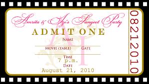 ticket birthday invitation template 28 images ticket