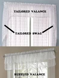 Lace Curtains And Valances Lace Curtains Priscilla Ruffled Layered Curtain Valance Or