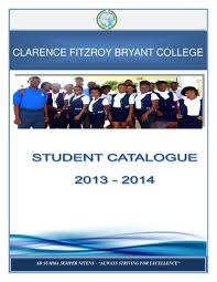 clarence fitzroy bryant college student catalogue by clarence
