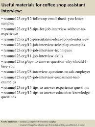 coffee shop resume sample sample resume top 8 coffee shop