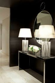 Hallway Table by Mirrored Hallway Table With Contemporary Table Lamps Selecting A