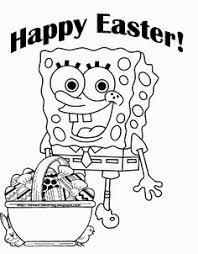 spongebob easter coloring pages cartoon easter